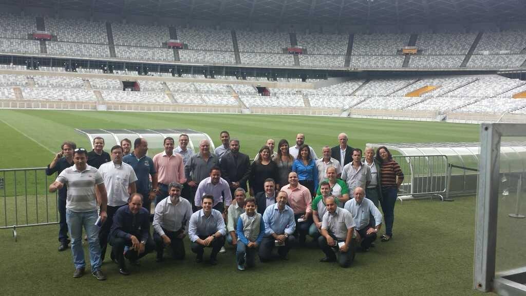 Lançamento da Copa Táxi de Futebol no Mineirão