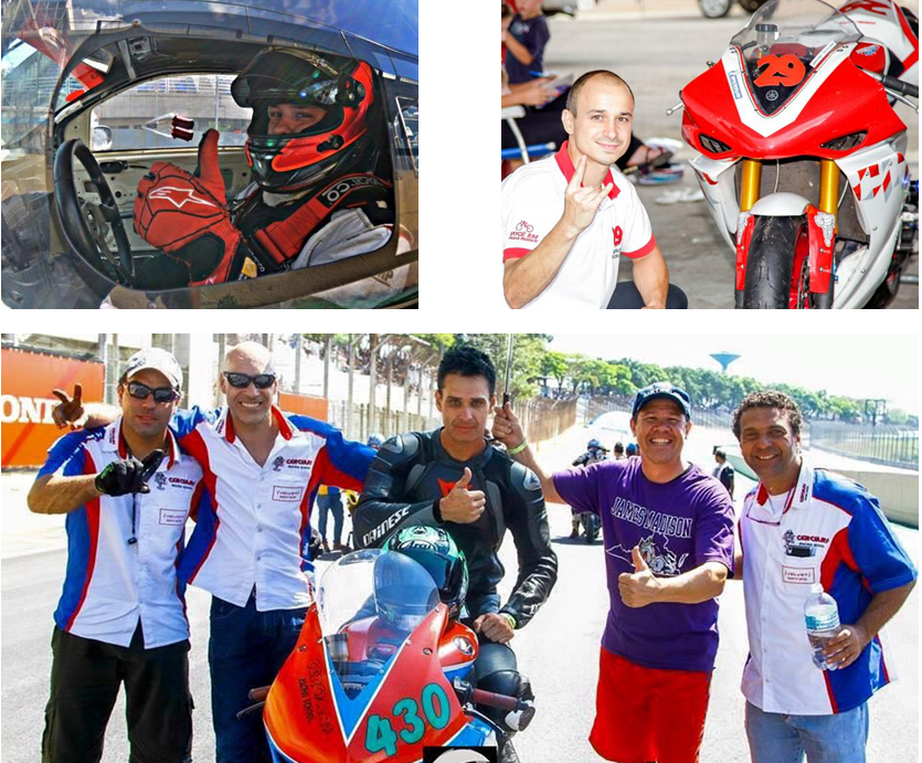 Pilotos de motos e carros