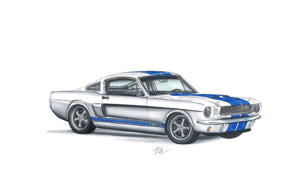 Outra novidade é uma reconstrução do Mustang Shelby GT350 de 1966, feito pela Revology Cars. A versão buscou manter o estilo do modelo original, adicionando algumas inovações como o cluster Dakota Digital com iluminação em LED, navegação por GPS, conexão bluetooth e reconhecimento por voz.