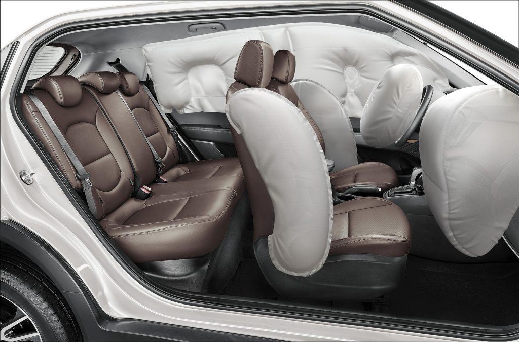 Pacote de segurança na versão topo de linha inclui seis airbags
