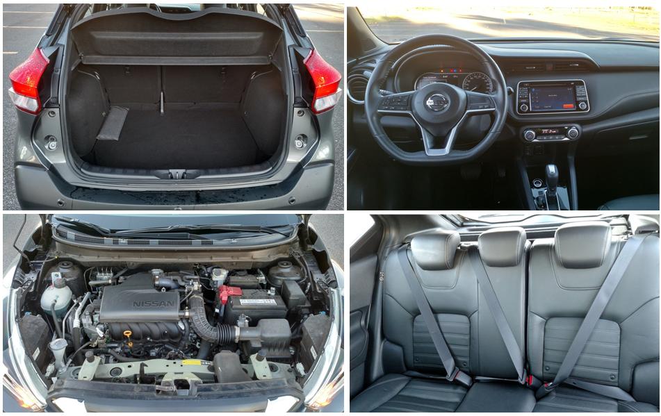 O acabamento interno do modelo da Nissan é em couro sintético; destaque ainda para a tela central do sistema de informação e entretenimento de sete polegadas