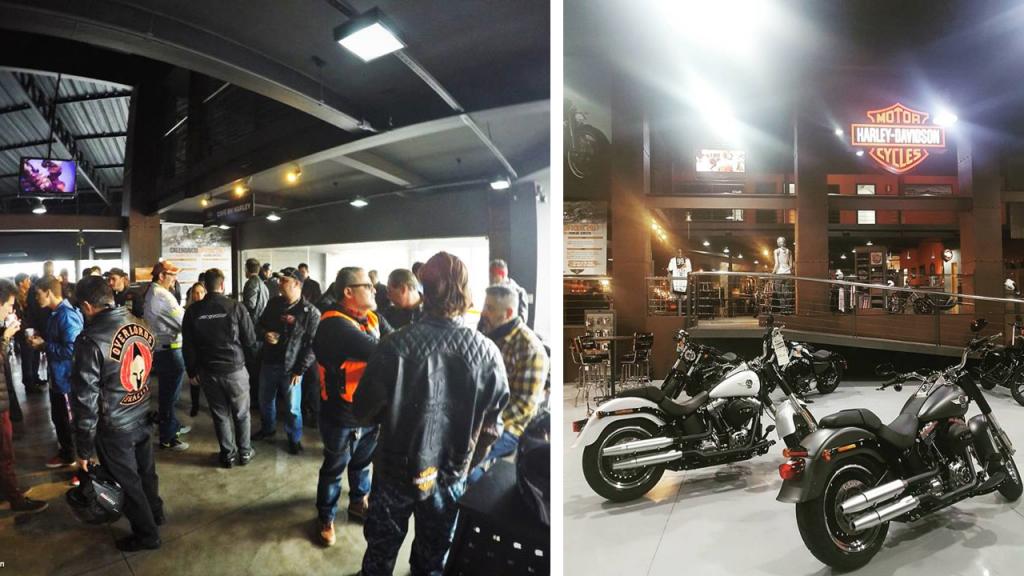 As concessionárias vão receber donos de motos Harley e suas famílias