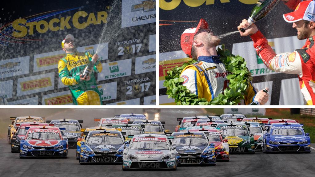 Felipe Fraga e Gabruel Casagrande, os campeões da etapa da Stock-Car em Curvelo em 2017