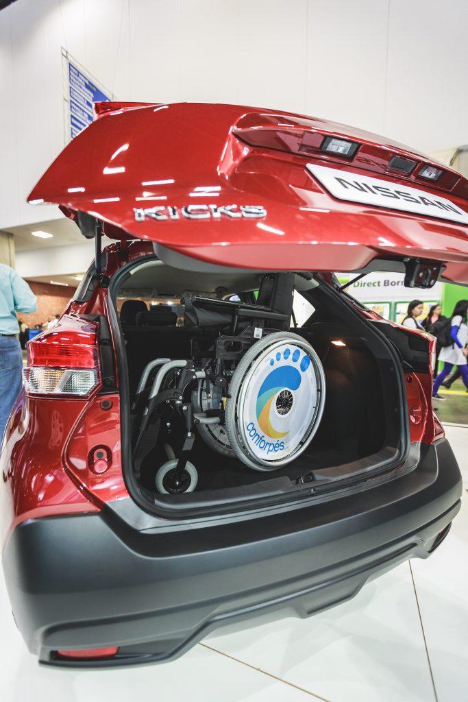 A Nissan apresenta na feira o Kicks Direct, versão voltada exclusivamente para clientes PcDs e com preço especial abaixo dos R$ 70 mil previstos pela legislação