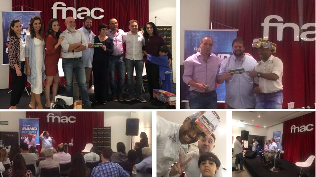 Momentos da quarta edição da Quinta BandNews Fnac, desta vez com a participação dos colunistas Eduardo Aquino e Luís Otávio Pires