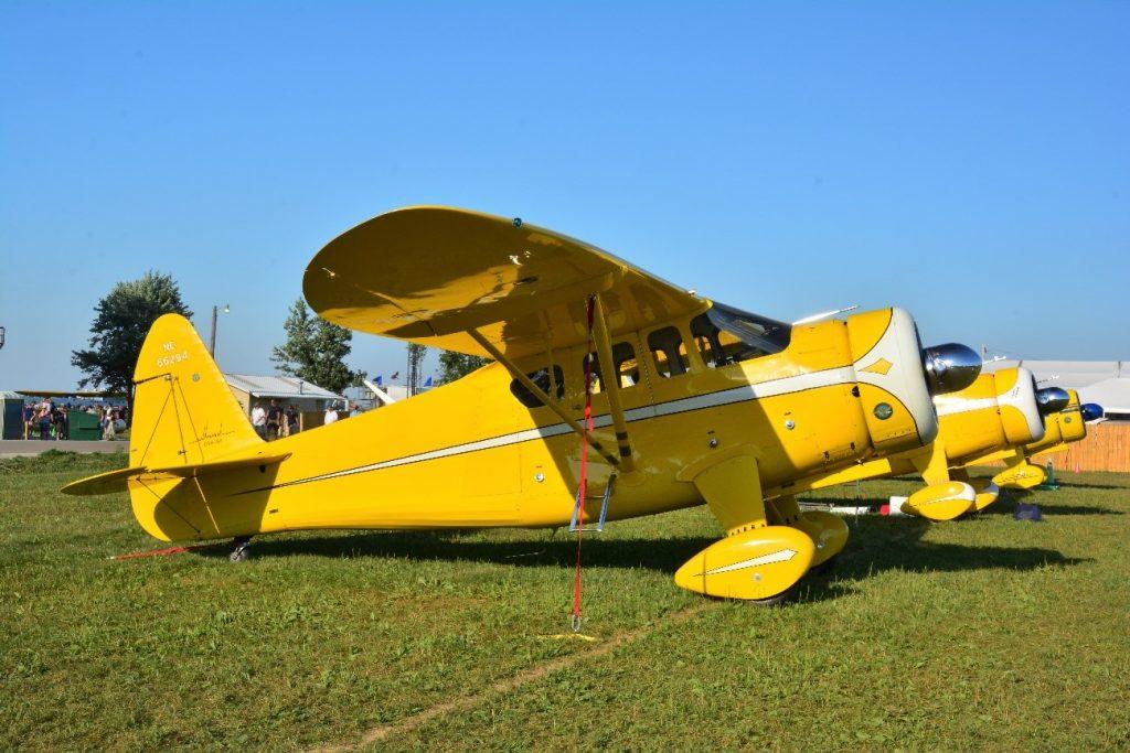 Howard DGA-15P equipado com o motor radial Pratt & Whitney R-985 Wasp Junior de nove cilindros de 450 HP