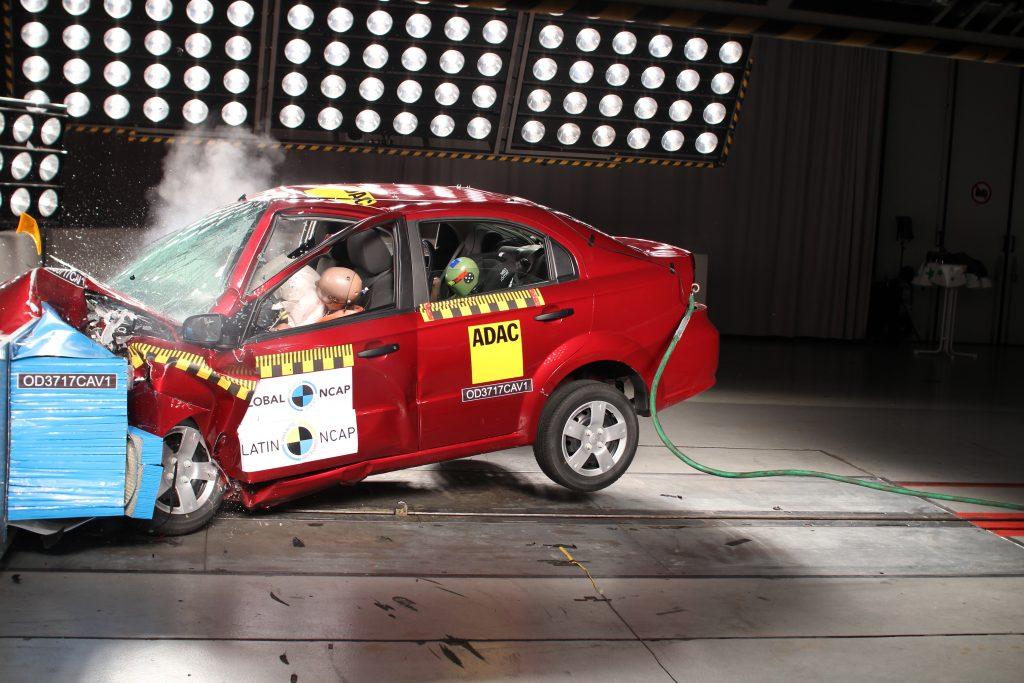 O teste de batida do Aveo demonstrou que ainda existe alta probabilidade de lesões de risco de vida.