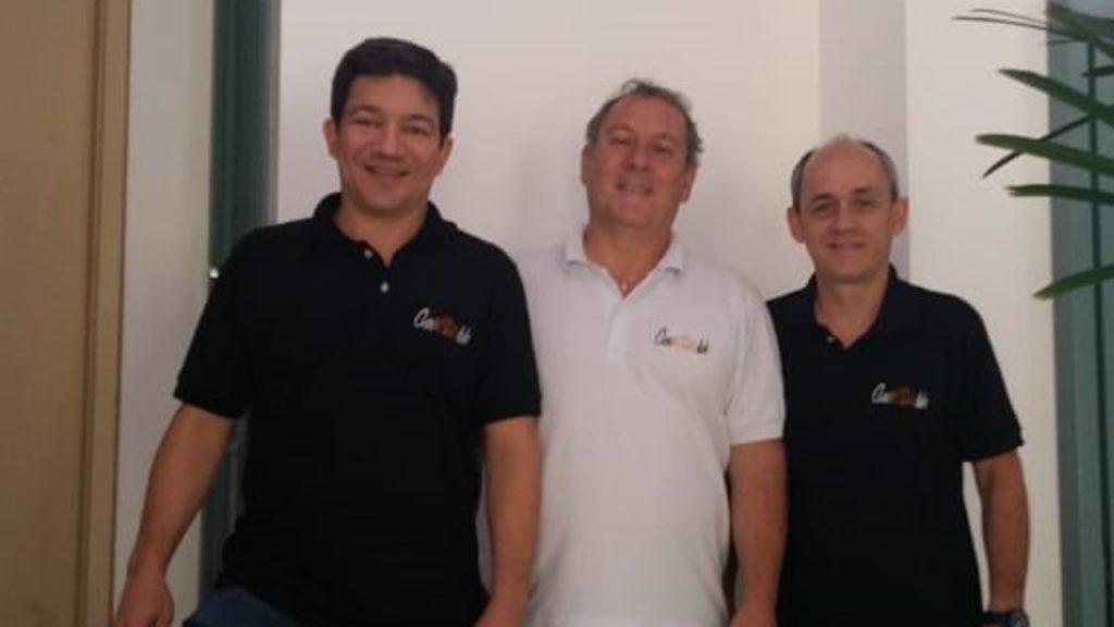 Thiago, Marcelo e Ângelo: experiência no setor automotivo repassada para os associados