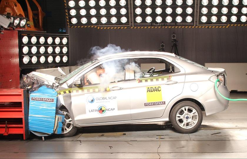 Teste do Ka feito pela Latin NCAP: mais estrelas para o modelo da Ford