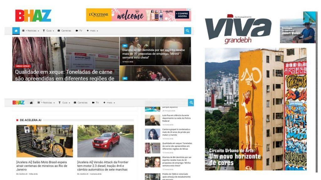 Publicações do Acelera Aí: produção de conteúdos é uma das vocações da plataforma