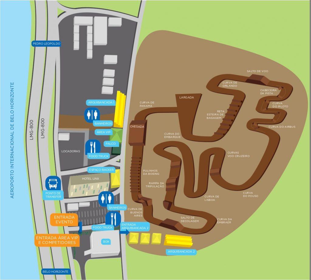 Mapa 3 Campeonato Mineiro de Motocross