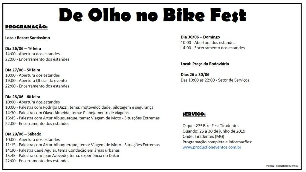 Bike Fest Programa 2019