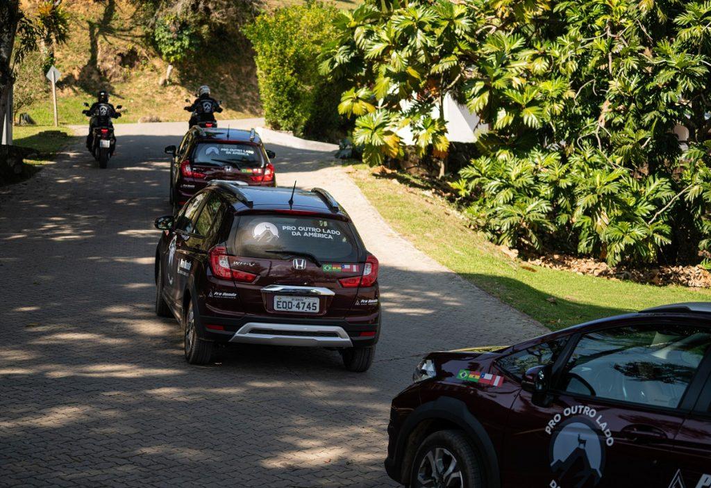 """""""Pro Outro Lado da América"""" vai rodar do Brasil ao Peru, num total de sete mil quilômetros (Foto: Honda/Divulgação)"""